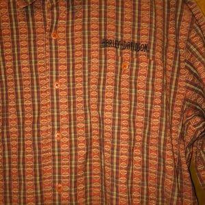 Men harley davidson button down Shirt 2x